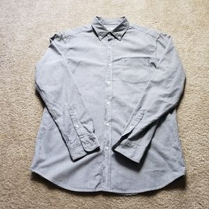 Lacoste Gray Long Sleeve Shirt Size M/40